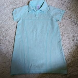 Ivivva girl's teal Polo size 10